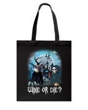 Pug Wine or Die Tote Bag thumbnail