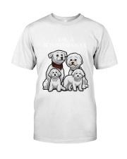 Bichon Frise Camp Mau White Classic T-Shirt front
