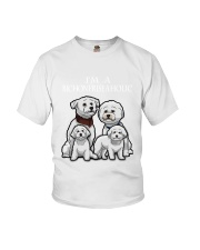 Bichon Frise Camp Mau White Youth T-Shirt thumbnail