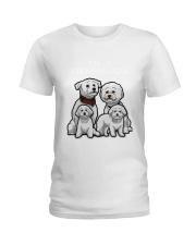 Bichon Frise Camp Mau White Ladies T-Shirt thumbnail