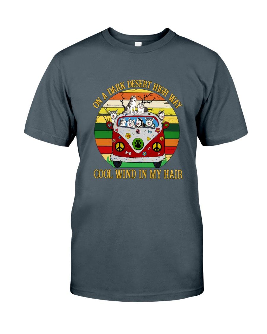 Alaskan Malamute  On High Way Classic T-Shirt