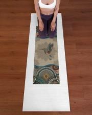 Hummingbird Mandala T5TF Yoga Mat 24x70 (vertical) aos-yoga-mat-lifestyle-24