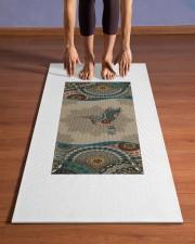 Hummingbird Mandala T5TF Yoga Mat 24x70 (vertical) aos-yoga-mat-lifestyle-26