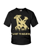Dinosaurs Believe Youth T-Shirt thumbnail