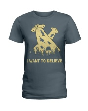 Dinosaurs Believe Ladies T-Shirt thumbnail