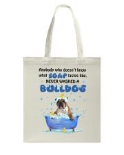 Bulldog and Soap Tote Bag thumbnail