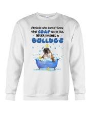 Bulldog and Soap Crewneck Sweatshirt front
