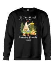 Camping Drunk Crewneck Sweatshirt thumbnail