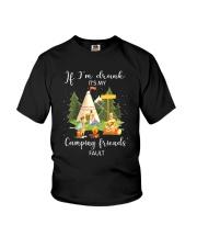 Camping Drunk Youth T-Shirt thumbnail