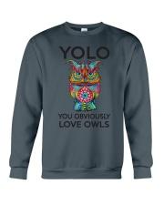 Owl Yolo Crewneck Sweatshirt thumbnail