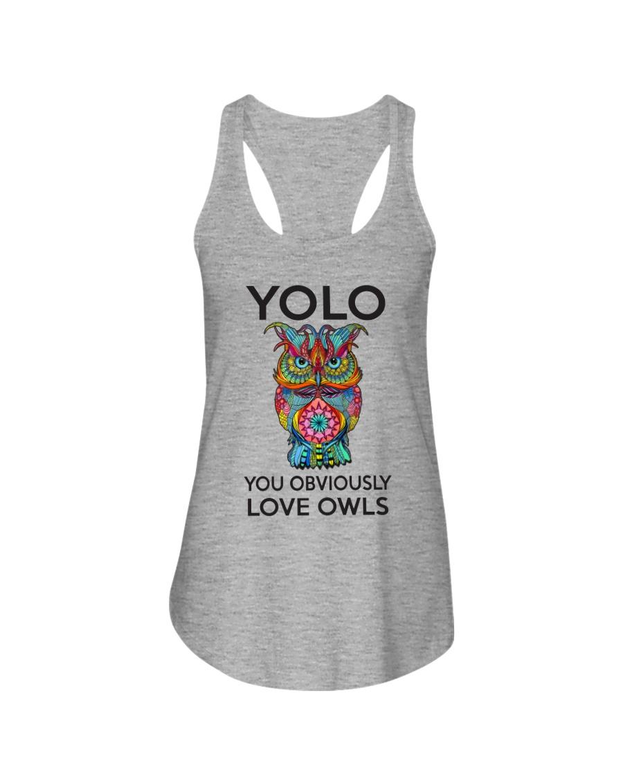 Owl Yolo Ladies Flowy Tank
