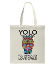 Owl Yolo Tote Bag thumbnail