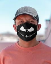 Jack Skellington Face H21831 Cloth face mask aos-face-mask-lifestyle-06