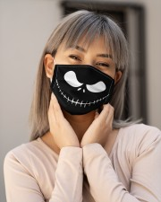 Jack Skellington Face H21831 Cloth face mask aos-face-mask-lifestyle-17