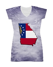 Georgia State Flag T5TO All-over Dress thumbnail