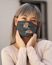 Golden Retriever Striped T821  Cloth face mask aos-face-mask-lifestyle-17