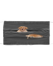 Golden Retriever Striped T821  Cloth face mask front