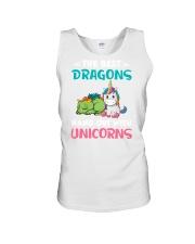Dragon And Unicorn Unisex Tank thumbnail