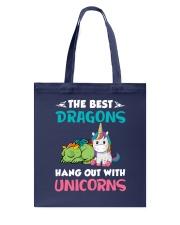 Dragon And Unicorn Tote Bag thumbnail