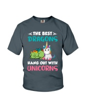 Dragon And Unicorn Youth T-Shirt thumbnail