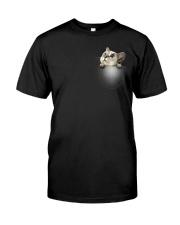 Cute Cat Pocket Classic T-Shirt front