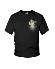 Cute Cat Pocket Youth T-Shirt thumbnail
