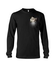 Cute Cat Pocket Long Sleeve Tee thumbnail