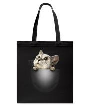 Cute Cat Pocket Tote Bag thumbnail