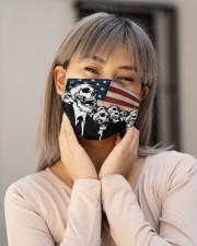 Skull USA Flag T824 Cloth face mask aos-face-mask-lifestyle-17