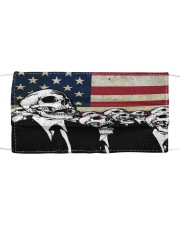 Skull USA Flag T824 Cloth face mask front