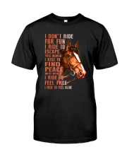 Horses-Ride To Feel Alive Classic T-Shirt thumbnail