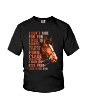 Horses-Ride To Feel Alive Youth T-Shirt thumbnail