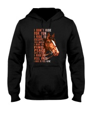 Horses-Ride To Feel Alive Hooded Sweatshirt thumbnail