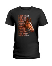 Horses-Ride To Feel Alive Ladies T-Shirt thumbnail
