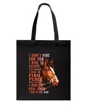Horses-Ride To Feel Alive Tote Bag thumbnail