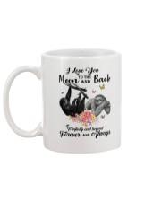 Sloths Love You Moon And Back Mug back