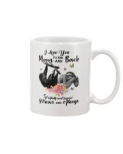 Sloths Love You Moon And Back Mug front