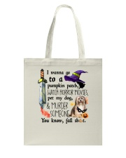 Havanese Pet My Dog Halloween Tote Bag thumbnail