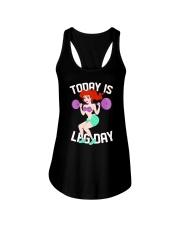 Mermaid - To Day Is Leg Day Ladies Flowy Tank tile