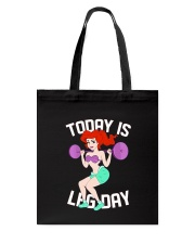 Mermaid - To Day Is Leg Day Tote Bag thumbnail