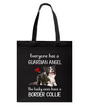 Border Collie Guardian Angel Tote Bag thumbnail