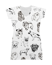 Dog Drawing All-over Dress thumbnail
