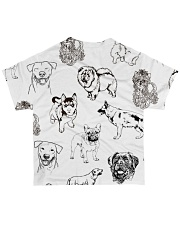 Dog Drawing All-over T-Shirt back