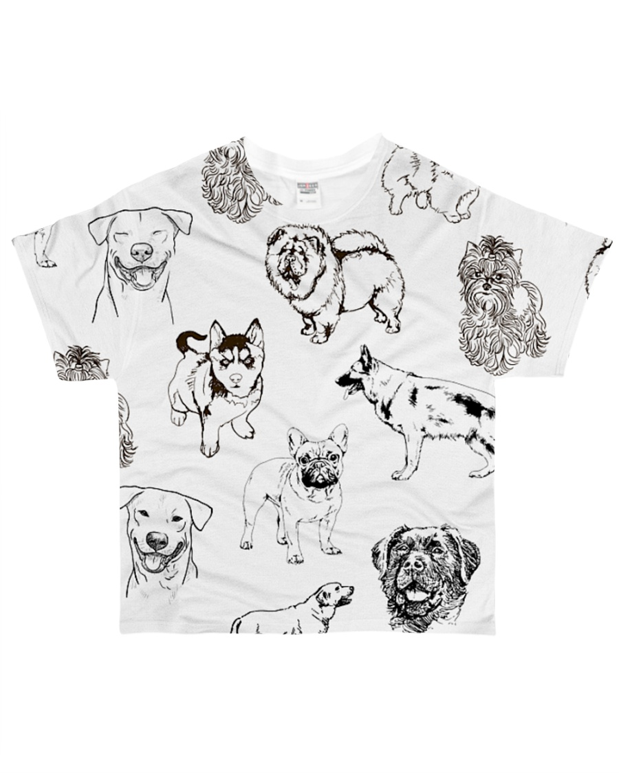 Dog Drawing All-over T-Shirt