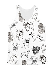 Dog Drawing All-over Unisex Tank thumbnail