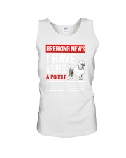 DOGS - POODLE - BREAKING NEWS Unisex Tank thumbnail