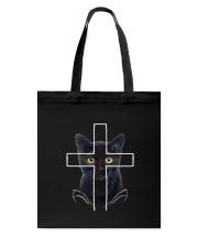 Black Cat Cross Tote Bag thumbnail