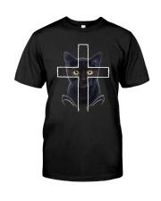 Black Cat Cross Classic T-Shirt front