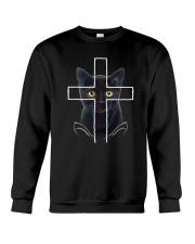 Black Cat Cross Crewneck Sweatshirt thumbnail