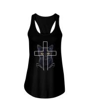 Black Cat Cross Ladies Flowy Tank thumbnail